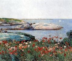 Poppies, Isles of Shoals - Childe Hassam - The Athenaeum