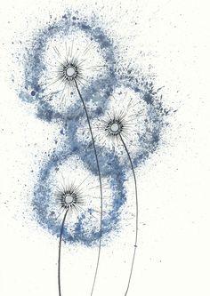 blaue pusteblume | l