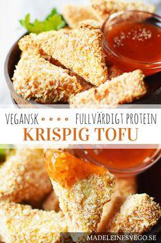 Istället för nuggets, testa dessa goda och krispiga tofubitar. Passar perfekt för den som inte gillar tofu, ett recept får dig att tycka om tofu lite bättre.