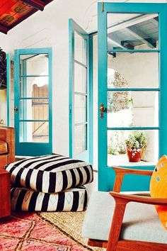 Tropical Turquoise - Painting Your Door Will Definitely Brighten Your Day - Photos