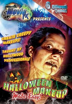 Movie FX Halloween Makeup DVD - This is a compilation of makeup effects contained in volumes I, II, and III. Great how to makeup effects on one DVD. Creating gun shot wounds, applying zombie makeup, vampire prosthetics, bruises, scars and wounds, and toxic waste face.