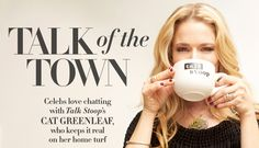 """Talk Of The Town"" Celebrity Social Story Interview & Pictorial of Talk Stoop TV Talk Show Host Cat Greenleaf by Stylist Vincent Michaud. Celebrity Women's Fashion by Creative, Art, Photo, Fashion Director & Stylist Vinny Michaud."
