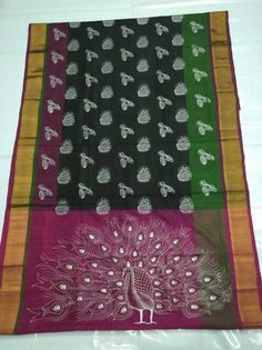 Handloom softsilk& print sarees Picnic Blanket, Outdoor Blanket, Printed Sarees, Blouse Styles, Tree Skirts, Silk Sarees, Screen Printing, Christmas Tree, Holiday Decor
