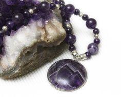 SALE BY 25... Purple Amethyst & Silver Necklace by iyildiz on Etsy, $34.00