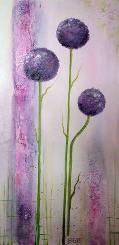 Ich habe Zierlauch auf dem Wochenmarkt gesehen und musste ihn malen What a beautiful flower,I saw it and must paint it