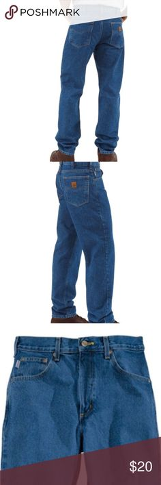 1687044030d CARHARTT TRADITIONAL FIT JEANS 36 X 34 NWOT This Carhartt Men s Traditional  Fit Jean sits above