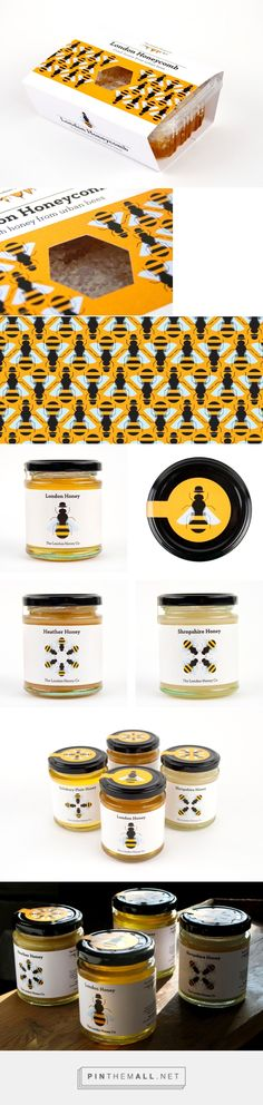 London Honey packaging by Red Stone curated by Packaging Diva PD. Honey Packaging, Beverage Packaging, Bottle Packaging, Food Packaging Design, Packaging Design Inspiration, Brand Packaging, Honey Logo, Honey Calcite, Honey Brand
