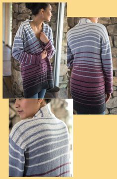 Great sweater jacket to knit on the bulky machine. Sweater Jacket, Men Sweater, Knitting Machine, Hobby, Knit Crochet, Weaving, Turtle Neck, Projects, Sweaters