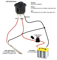 connecting led strip to 12 volt car battery power supply wiring diagram Jeep Xj Mods, Electrical Projects, Electronics Projects, Electrical Wiring, Electrical Diagram, Electrical Installation, Light Switch Wiring, Trailer Wiring Diagram, Boat Wiring