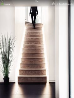 LED staircase lighting inside: 25 ideas for design indirect lighting of the wooden stairs inside Staircase Lighting Ideas, Stairway Lighting, Home Lighting, Lighting Design, Wooden Staircases, Wooden Stairs, Stairways, Interior Staircase, Modern Staircase