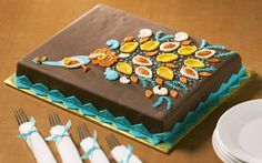 #Paisley peacock cake - perfect for any #Fall party!