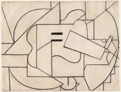 Pablo Picasso, Guitar, 1912, charcoal on paper, Museum of Modern Art, New York.