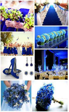 royal blue wedding love the runner