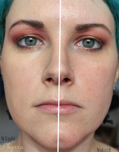 Cover FX CC Cream Time Release Tinted Treatment SPF 30. This is Cover FX CC Cream in N Light swatched on Phyrra's cheek.