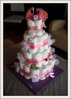 Babyshower diaper cake / vaippakakku