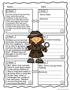 Making Inferences with Literature will be fascinating and fun for ALL your students with this differentiated set of fiction story task cards from Book Buddies. Two levels of story task cards, worksheets, vocabulary lists and practice with figurative language context clues make mastering this skill easy and understandable. This is a great resource for assessments and test prep practice. $