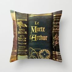 Adventure Library Pillow Cover: bedding, couch pillow, home decor, books, dark…