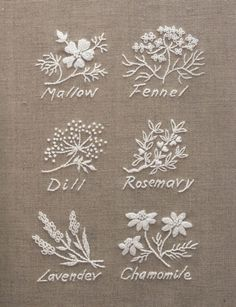 Wonderful Ribbon Embroidery Flowers by Hand Ideas. Enchanting Ribbon Embroidery Flowers by Hand Ideas. Herb Embroidery, Japanese Embroidery, Hand Embroidery Stitches, Ribbon Embroidery, Cross Stitch Embroidery, Machine Embroidery, Embroidery Designs, Embroidery Sampler, Embroidery Letters