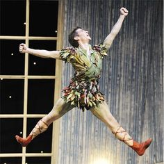 Peter Pan leaping in the Northern Ballet Theatre