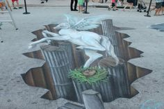 Annual Street Painting Festival in downtown Lake Worth Beach, Florida. Lake Worth Florida, Street Painting, 3d Street Art, Statue, Artist, Street Mural, Sculptures, Sculpture, Artists