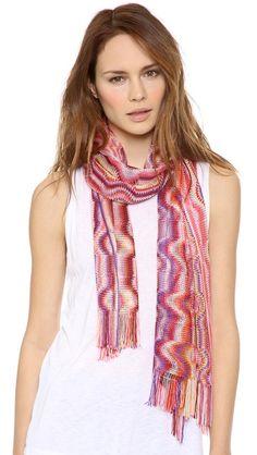 Looooove this Missoni woven shawl for spring.
