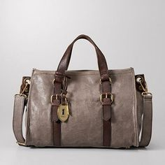 FOSSIL Maddox Satchel Both wonderfully soft and classically chic, it's a vintage-inspired must-have. The glazed leather Maddox satchel is the ultimat . Fossil Handbags, Fossil Bags, Satchel Handbags, Louis Vuitton Handbags, Coach Handbags, Leather Purses, Leather Handbags, Leather Bag, Grey Purses