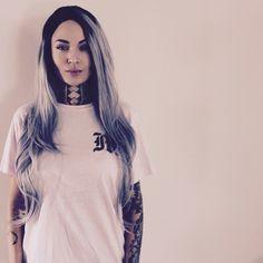 Female tattooed model Tessa Lizz   alternative model from USA