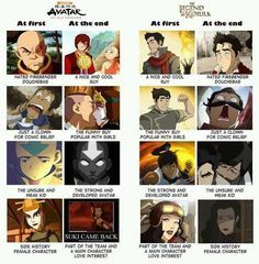 ATLA v LOK in this picture you can actually realize that atla has more of an happy ending than lok does and it makes me quite sad ;(