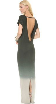 Olive Green Maxi Dress by Young Fabulous & Broke Backless Maxi Yfb