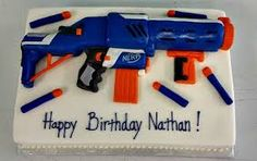 Image result for nerf gun cake