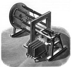 The first real electric motor by Moritz Jacobi, Königsberg, May 1834