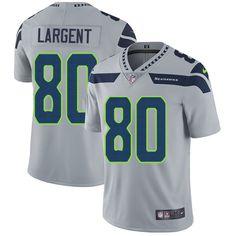 Nike Seahawks #80 Steve Largent Grey Alternate Men's Stitched NFL Vapor Untouchable Limited Jersey