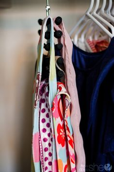 Store your scarves and bandanas on tie racks to keep them from getting wrinkled. - That's Brilliant!