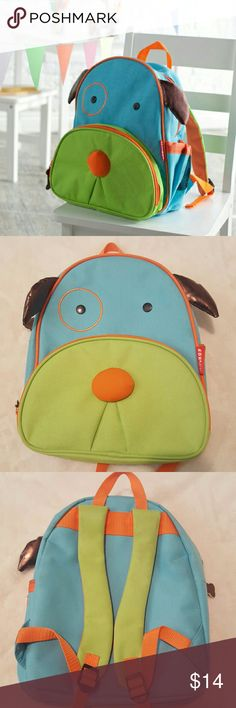 Kids Backpack Skip Hop Kids dog skip hop backpack  ?? Worn only a few times  ?? Great Condition  ?? Zipper on the top and front both fully working  ?? Back straps both adjustable Skip Hop Accessories Bags