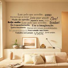 LEITURA DE ESPERA | invista em frases criativas adesivadas na parede para…
