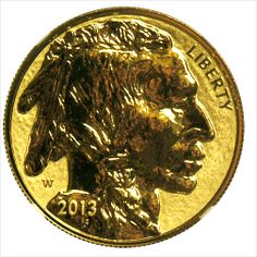 2013 W $50 American Gold Buffalo Reverse Proof 69 100th Anniversary