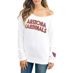 White Arizona Cardinals Champion Fleece Sweatshirt. #NFLStyle