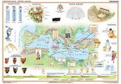kultura minojska - Szukaj w Google Minoan, Ancient Greece, Crete, Syria, Vintage World Maps, Google, Historia