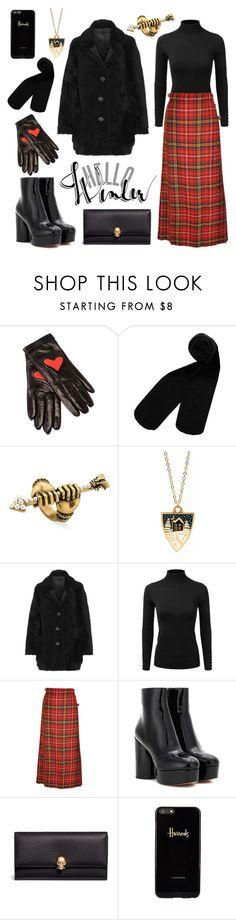 """oh, the weather outside is frightful"" by rerinm ❤ liked on Polyvore featuring Boutique Moschino, Monki, Gucci, Bonbi Forest, Karl by Karl Donoghue, Doublju, Marc Jacobs, Alexander McQueen, Harrods and Winter"