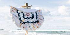 DIY serviette de plage ronde