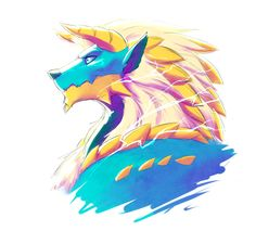 evionart:  The Thunder Wolf - Zinogre