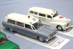 Ambulances. (Model cars, plastic models)