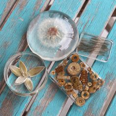 Resin paperweights are so cool and fun. They are a great way to make something personal, a great gift idea. You can embed just about anything in resin.