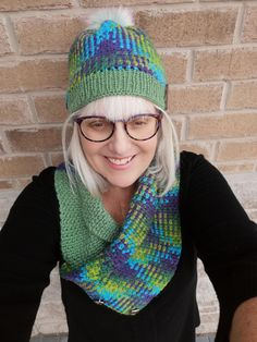 Hand knitted and crocheted hats, shawls scarves. by KnitThatFit Knitted Hats, Crochet Hats, Scarf Hat, Winter Outfits For Work, Neck Warmer, Hand Knitting, Cowl, Plaid, Handmade