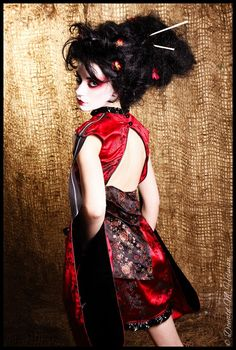 Goth Geisha?  What a combo!