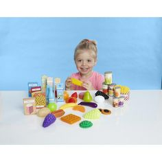 Just Like Home Super Play Food Set - 120 Pieces Toys R Us http://www.amazon.com/dp/B00501MBL0/ref=cm_sw_r_pi_dp_9XlItb02GKT2SZAG