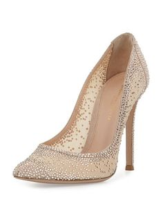 Love these shoes by GIANVITO ROSSI Crystal Mesh Point-Toe Pump - $2395