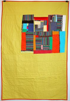 Love this modern take on the crazy patchwork quilt.