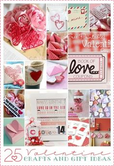 25 Valentine Gift Ideas and Crafts. AD♥️RABLE!
