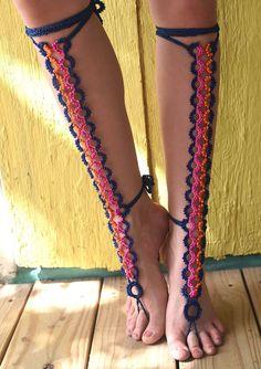 Crochet Cross, Hand Crochet, Hand Knitting, Crochet Barefoot Sandals, Barefoot Shoes, Fairy Shoes, Rope Art, Leather Gladiator Sandals, Denim Jeans